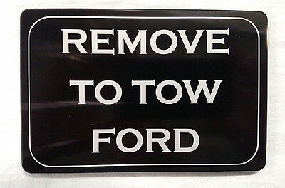 Remove To Tow Ford, Billet Aluminum Hitch Cover,   3x5,  Made In USA