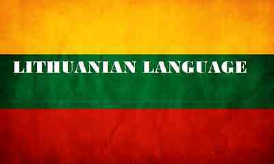 Learn  LITHUANIAN  - 100 Lessons Audio Book MP3 CD - iPod Friendly