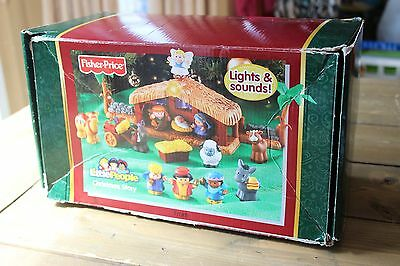 Incomplete Fisher Price Little People Manger Nativity Scene