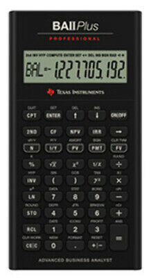 NEW Texas Instruments TI-BAII PLUS PRO Financial Calculator CFA Approved