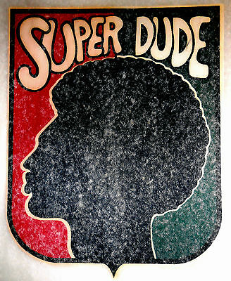 "Vintage 1974 L&H ""SUPER DUDE"" Iron-on Transfer"