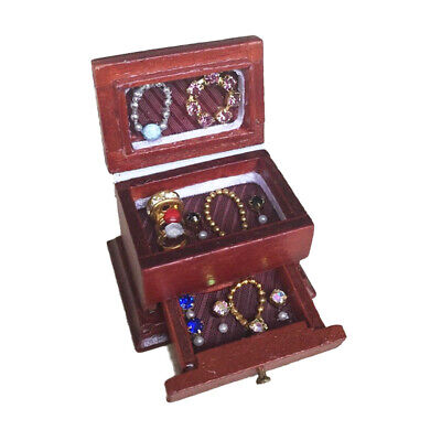 Dollhouse Miniatures Dressing Case Makeup Box Jewel Case Jewellery Box OD002B
