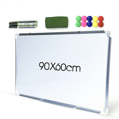 Portable Magnetic Home and Office Board  Whiteboard 90X60CM Marker Eraser Button