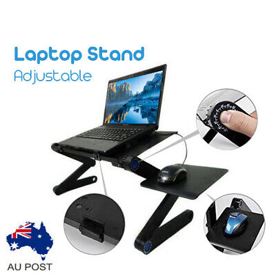 Portable Foldable Laptop Stand/Tray/Desk/Table w mouse pad AU Stock