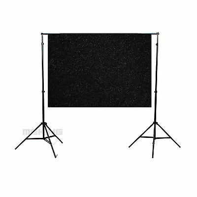 40x60in/1.5x1M Solid Black Seamless FlockedCloth Photography Backdrop Background