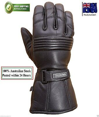 Motorcycle Leather Winter Gloves Motorbike Biker Rider Touring Warm Gloves