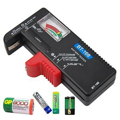 Universal Battery Volt Tester For AA AAA C D 9V Button Cell Checker Volt Tester