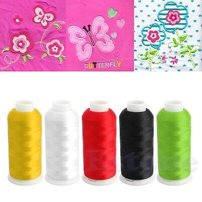 5000M Cones Bobbin Embroidery Quilting Polyester Thread Line For Sewing Machine