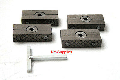 Letterpress Quoin and Quoin Key (Set of 4) - For Heidelberg, Kluge, C&P Miehle