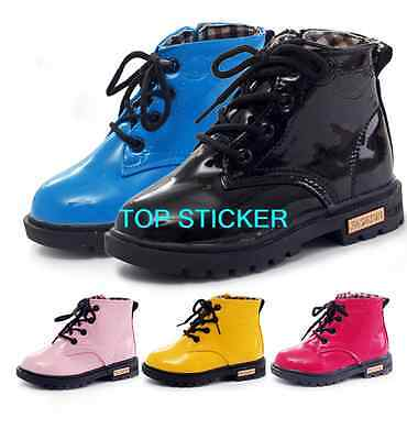 Girls Boys Childrens Kids Spring Casual Flat Pumps Boots Shoe Size 5-13
