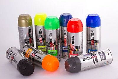 Spray Paint EVOLUTION Gloss - 400ml RAL Colours. Black White Gold Silver etc