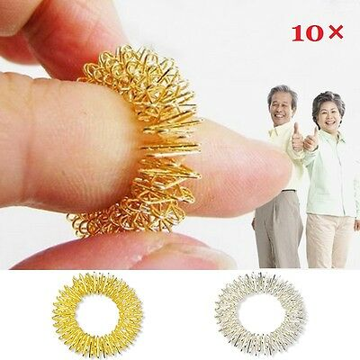 3/10pcs Acupressure Sujok (Su-Jok) Pain Therapy Finger Massager Circulation Ring