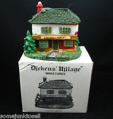 Dept 56 Dickens Village Miniature ~ Scrooge & Marley ~ Cold Cast Porcelain MIB