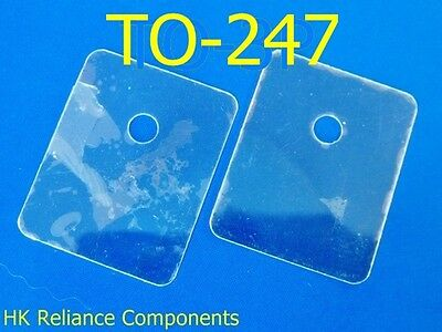 Mica Sheets TO-247 20x25mm Insulator for Transistor Heat Sink, x50 pcs