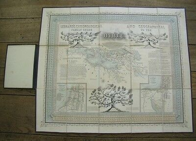Leonard's Chronological Geographical Holy Bible Guide Antique Victorian Map