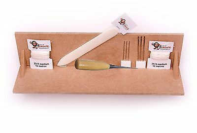 Bookbinding Deluxe Starter Kit - Book Binding Tools including A4 Punching Cradle