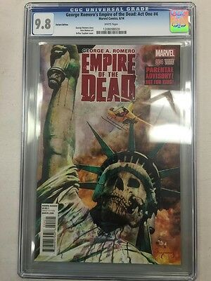 George Romero's Empire Of The Dead: Act One #4 Variant Edition Cgc 9.8 Rare!