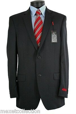 Alfani RED Men's Black Stripe Two Button Regular Fit Wool Sport Coat 44R