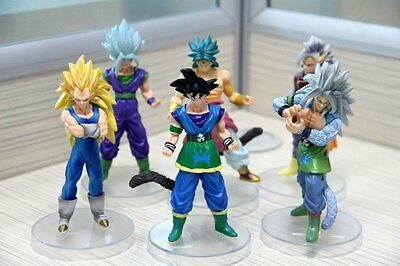 Dragon Ball Z AF Super Saiyan 6x Figures Set: Goku Broly Vegeta Supreme Kai