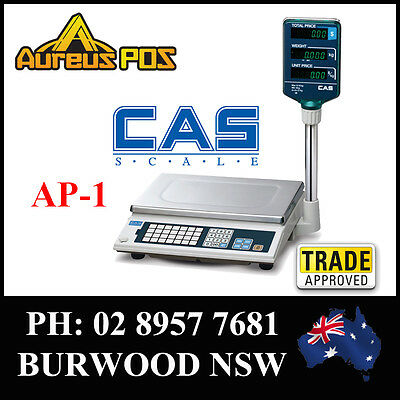CAS AP-1 15kg  Retail Electronic Scale Trade approved