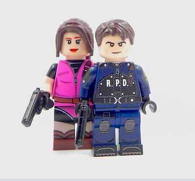 Custom print Lego minifigure - Leon S Kennedy / Claire Redfield Resident Evil