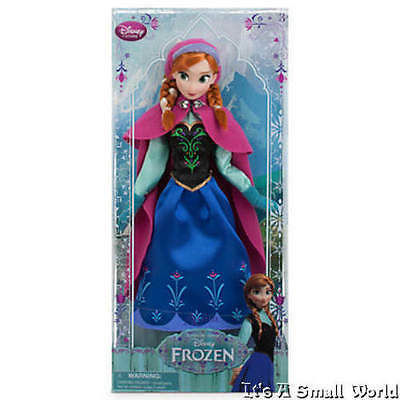 "Disney Store Frozen Princess Anna of Arendelle Classic Poseable Doll Sz 12"" NIB"