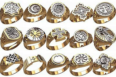 set of WAX PATTERNS (#m17) for Lost Wax Casting silver or gold Jewelry (15pcs)
