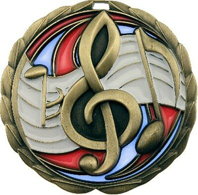 Music / Singing / Karaoke Medal 3D Stained Glass 64mm Diameter Engraved FREE