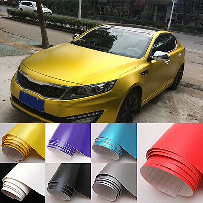 New Matte Flat Color Vinyl Film Wrap Sticker Decal Bubble Air Release 150cm*30cm