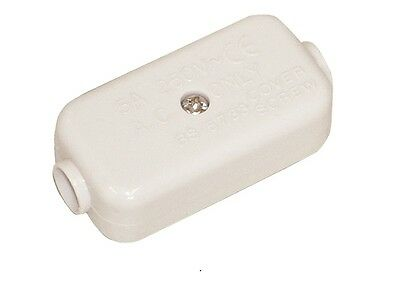 Electrical Joiner. 2 Way 5A In-line Mains Cable Junction Connector. AE103EA