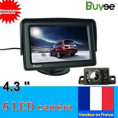 "Neuf Voiture Camera de Recul +LCD Voiture Rearview inverse moniteur 4.3 ""TFT FR"