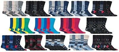 SockShop Gentle Grip - Mens 6 Pairs No Elastic Socks, 6-11 Uk,39-45 eur
