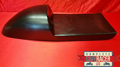 Deep Fastback Style Cafe Racer Seat In Black Deeper To Hide Battery In Tail