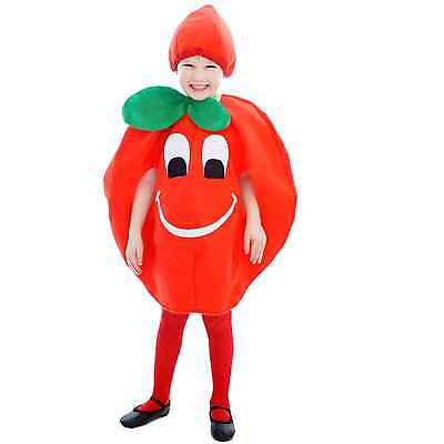 Tomato Toddler Fancy Dress Up Costume Baby Outfit Hat Book Week 2-3 Years Kids
