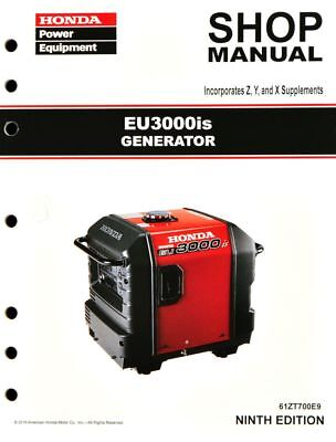 Honda EU3000 EU3000is Generator Service Repair Shop Manual