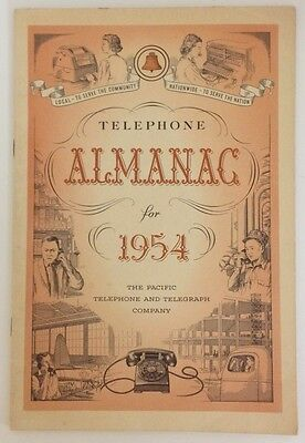 Telephone Almanac for 1954 The Pacific Telephone and Telegraph Company
