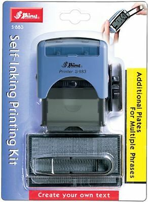 Shiny Self Inking Custom Text Printing Kit (S-883)