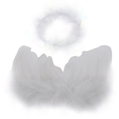 New Infant Baby Kids Angel Fairy Wing Costume Photo Prop 6-18M BF