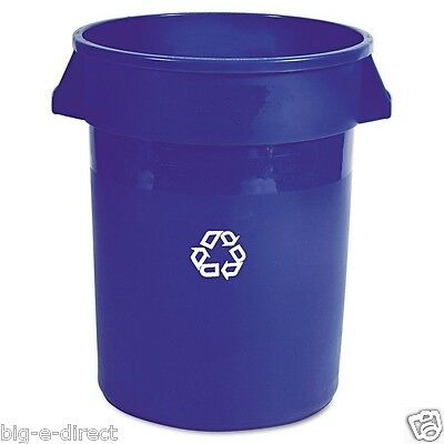 BLUE Rubbermaid Brute Recycling Container Large Plastic Trash Can Bin 32 gallons