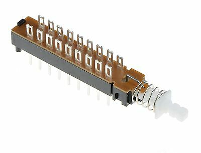 10 x 6PDT Changeover Push Button Latching PCB Switch