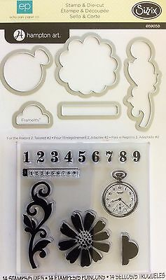 SIZZIX FRAMELITS STAMP & CUTTING DIES For The Record 2 ECHO PARK HAMPTON ART