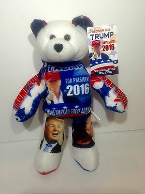 "DONALD TRUMP "" Limited Edition "" President 2016 Campaign Collectible Teddy Bear"