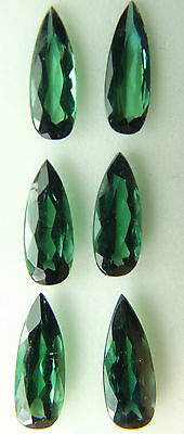 Natural Green Tourmaline,7.58ct,5x13mm,faceted pair drop,pear,Brazil,T4-11