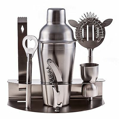 Bartender Shaker Cocktail Drink Mixer Steel Stainless Bar Set Tools Martini Kit