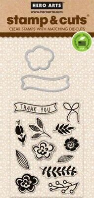 HERO ARTS - Stamp & Cuts - FLOWERS - cutting dies & clear cling stamps