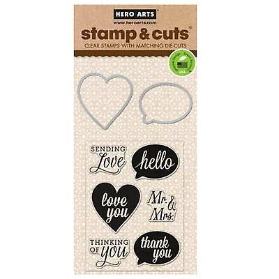 HERO ARTS - Stamp & Cuts - YES - cutting dies & clear cling stamps for wedding