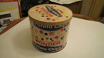 Wonder Bread Potato Chips Container