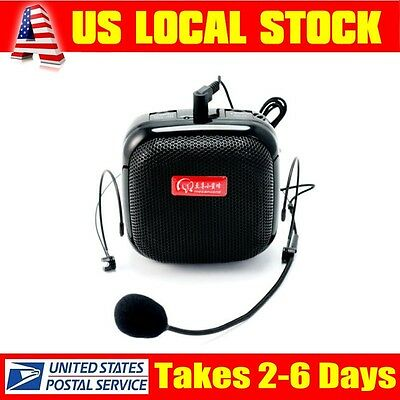 Teachers Guide Portable Voice Booster Amplifier Headset Microphone Loudspeaker