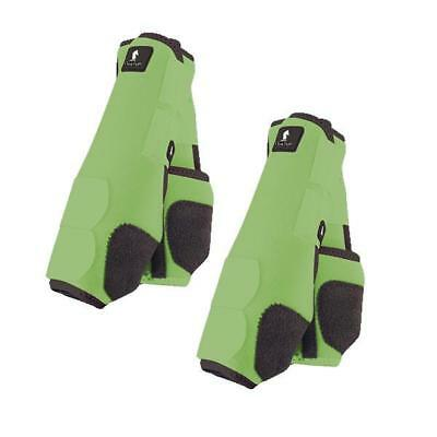 Classic Equine Legacy Boots - Lime - Medium Front & Hind Bundle