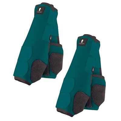 Classic Equine Legacy Boots - Teal - Medium Front & Hind Bundle